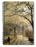A Moonlit Stroll Bonchurch Isle Of Wight Spiral Notebook