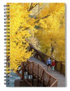 A Mother And Daughter Walking Spiral Notebook