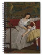 A Mother And Her Young Daughter Spiral Notebook