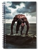 A Muscular Man In The Starting Position Spiral Notebook