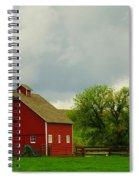 A Neat Red Barn Near Sheridan Wyoming Spiral Notebook