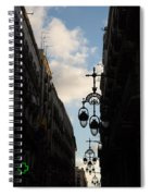 A Necklace Of Barcelona Streetlamps Spiral Notebook