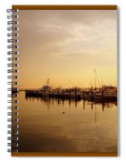 A New Day Beings On The Water - Atlantic Highlands  - Nj Spiral Notebook