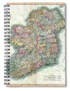 A New Map Of Ireland 1799 Spiral Notebook
