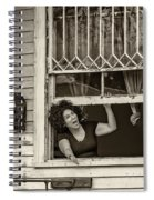 A New Orleans Greeting Sepia Spiral Notebook