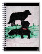 A Newfoundland Dog And A Labrador Retriever Spiral Notebook