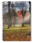 A November Morning Square Spiral Notebook