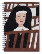 A Nun In Prayer Spiral Notebook