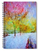 A Painted Winter Spiral Notebook