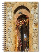 A Painting A Tuscan Shop Doorway Spiral Notebook