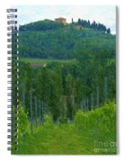 A Painting A Tuscan Vineyard And Villa Spiral Notebook