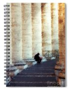 A Painting Alone Among The Vatican Columns Spiral Notebook