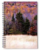 A Painting Autumn Field Spiral Notebook