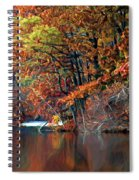 A Painting Barney's Autumn Pond Spiral Notebook