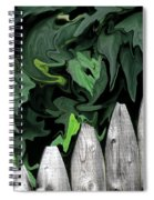 A Painting Fence And Leaves Dali-style Spiral Notebook