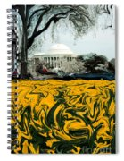 A Painting Jefferson Memorial Dali-style Spiral Notebook