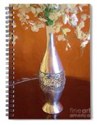A Painting Silver Vase On Table Spiral Notebook