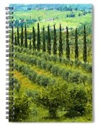 A Painting Tuscan Panoramic 4 Spiral Notebook