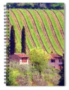 A Painting Tuscan Vineyard Spiral Notebook