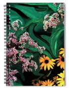 A Painting Wild Flowers Dali-style Spiral Notebook