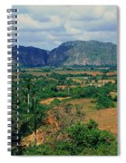 A Panoramic View Of The Valle De Spiral Notebook