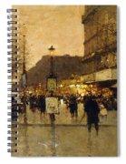 A Parisian Street Scene Spiral Notebook