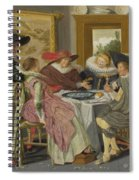 A Party At Table Spiral Notebook
