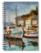 A Peaceful Harbour  Spiral Notebook