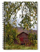 A Peak Of Fall Red Barn Spiral Notebook