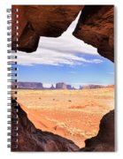 A Peek Into Monument Valley Spiral Notebook