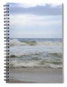 A Peek Of Blue Spiral Notebook