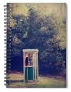A Phone In A Booth? Spiral Notebook