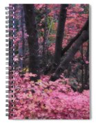 A Pink Autumn  Spiral Notebook
