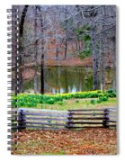 A Place Of Peace Among The Daffodils Spiral Notebook