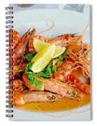A Plate Of Shrimp Spiral Notebook