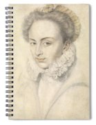 A Portrait Of A Young Woman In A Ruffled Collar Spiral Notebook