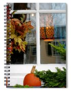 A Pretty Autumn Window Spiral Notebook