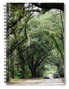 A Pretty Tree Covered Road Somewhere On Hilton Head Island Spiral Notebook