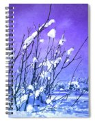 A Purple Winter Spiral Notebook