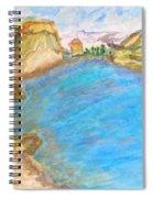 A Quiet Beach  Spiral Notebook