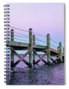 A Quiet Evening At Dusk With A Moonrise Spiral Notebook