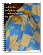 A Quilt With Daisies And Quote Spiral Notebook
