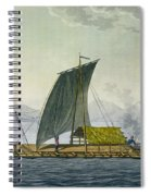A Raft Leaving The Port Of Guayaquil Spiral Notebook
