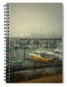 A Rainy Evening On The Port Spiral Notebook