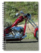 A Red Beauty Spiral Notebook