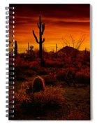 A Red Desert  Spiral Notebook