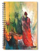 A Red Dog In Morocco Spiral Notebook