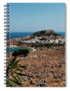 A Red Flower To Lindos Spiral Notebook