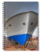 a resting boat in Jaffa port Spiral Notebook