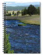 A River Runs Through Yellowstone Spiral Notebook
